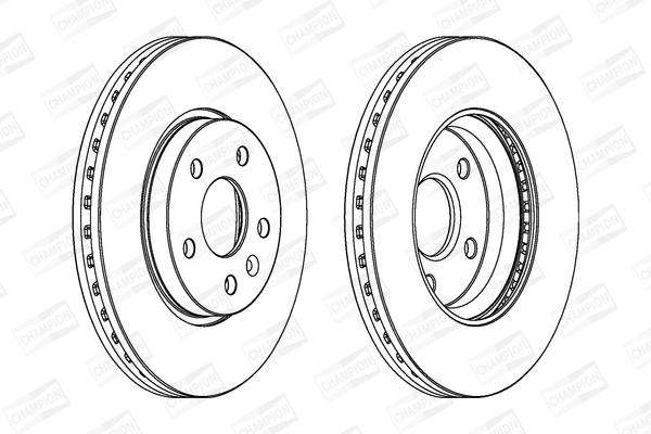 Тормозной диск передний MINTEX арт. 562642CH