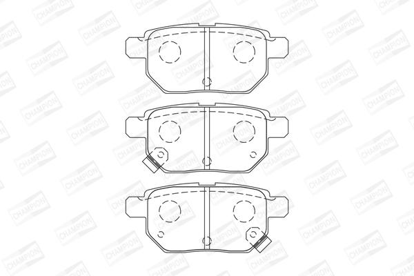 Тормозные колодки задние дисковые MINTEX арт. 572591CH
