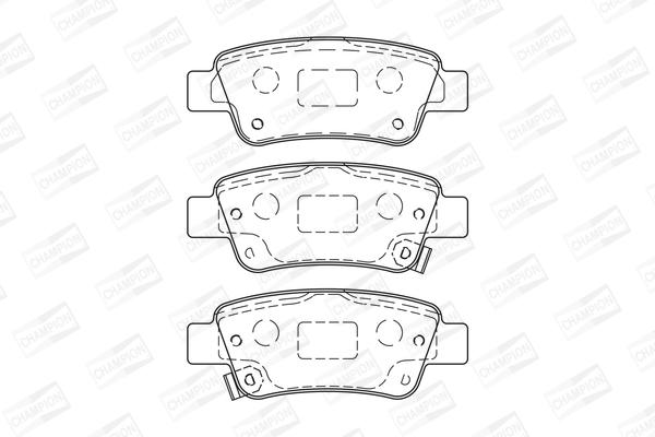 Тормозные колодки задние дисковые MINTEX арт. 572606CH