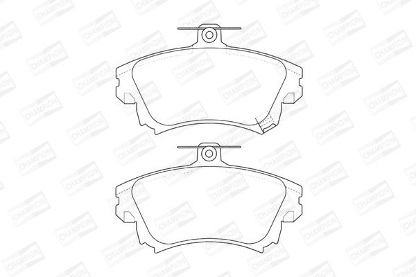 Тормозные колодки дисковые MINTEX арт. 573039CH