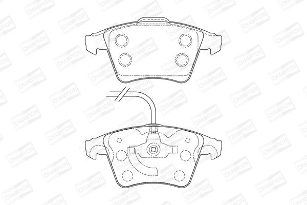 Тормозные колодки передние дисковые MINTEX арт. 573159CH