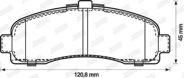 Тормозные колодки дисковые MINTEX арт. 572257J