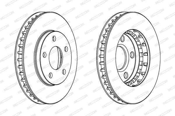 Тормозной диск MINTEX арт. DDF1030