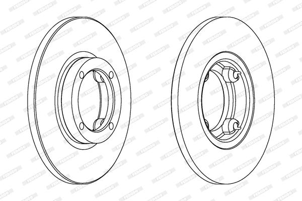 Тормозной диск передний MINTEX арт. DDF1076