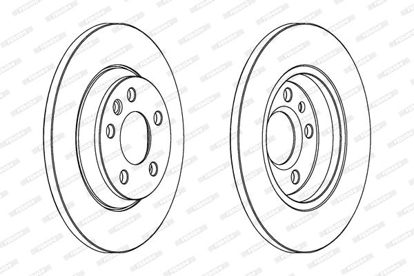 Тормозной диск задний MINTEX арт. FE DDF1158