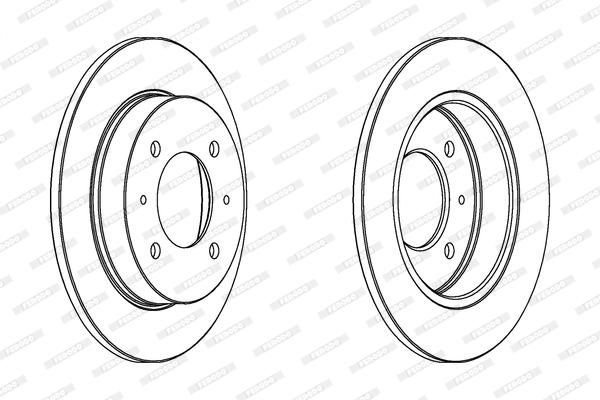 Тормозной диск MINTEX арт. DDF1176
