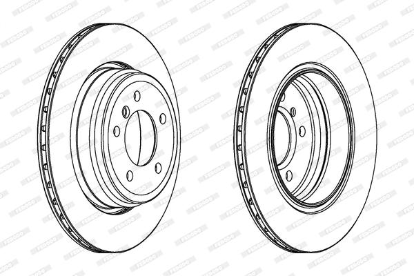 Тормозной диск MINTEX арт. DDF1244C1