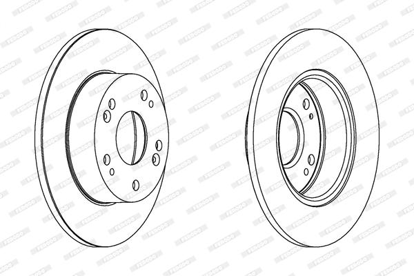 Тормозной диск MINTEX арт. DDF1390C