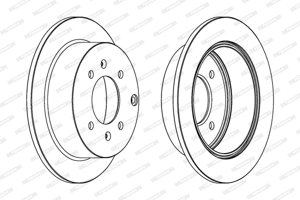 Тормозной диск MINTEX арт. DDF1448