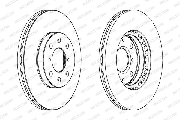 Тормозной диск передний MINTEX арт. DDF1520