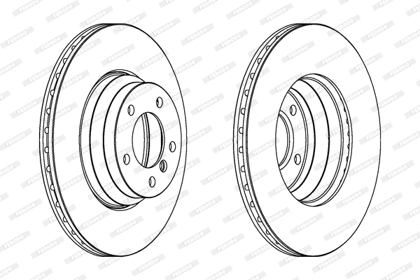 Тормозной диск MINTEX арт. DDF1535C1