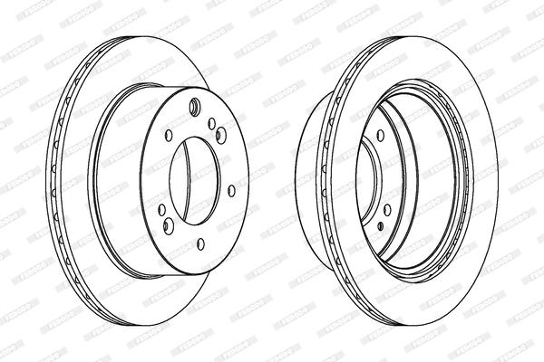 Тормозной диск MINTEX арт. DDF1543C1