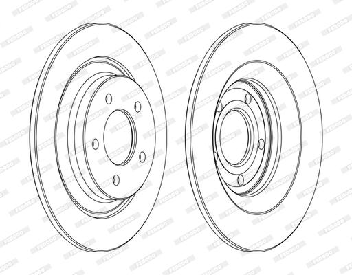 Тормозной диск MINTEX арт. DDF1547C