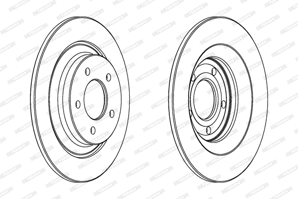 Тормозной диск MINTEX арт. FE DDF1547