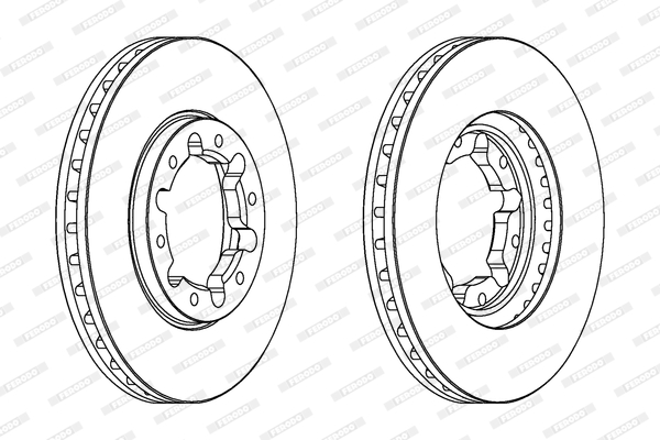 Тормозной диск MINTEX арт. DDF1552C1