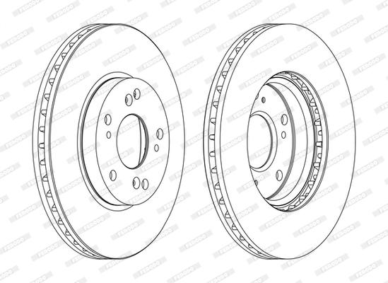 Тормозной диск MINTEX арт. DDF1557C