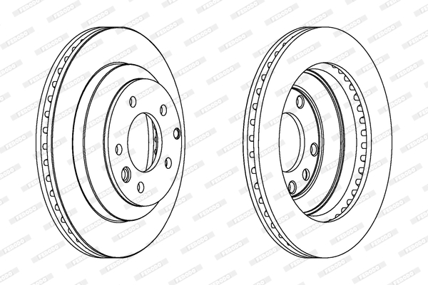 Тормозной диск MINTEX арт. DDF1580C
