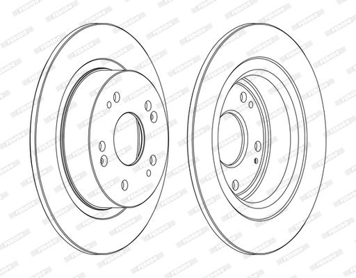Тормозной диск MINTEX арт. DDF1776C