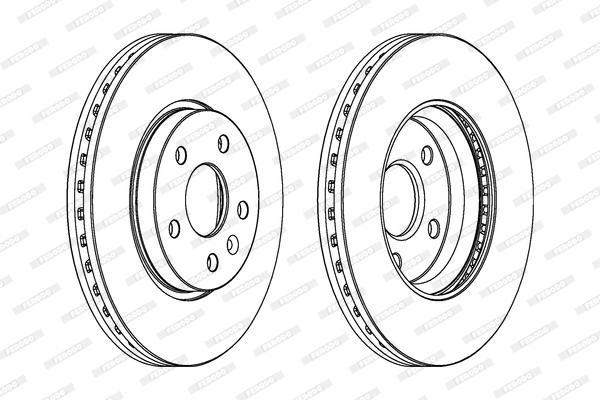 Тормозной диск передний MINTEX арт. DDF1869
