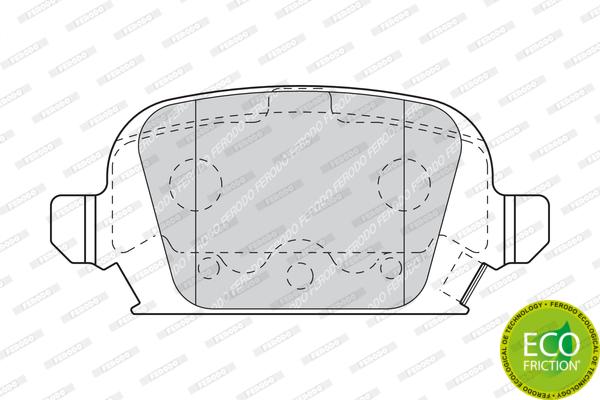 Тормозные колодки дисковые MINTEX арт. FDB1472