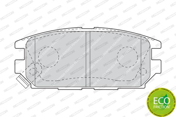Тормозные колодки дисковые MINTEX арт. FDB1507
