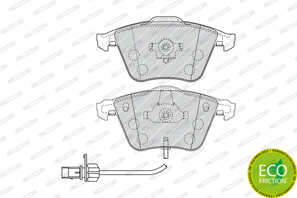 Тормозные колодки дисковые MINTEX арт. FDB1827