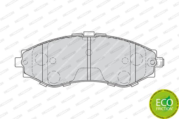 Тормозные колодки передние дисковые MINTEX арт. FE FDB1969