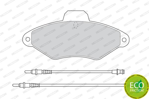 Тормозные колодки дисковые MINTEX арт. FDB874