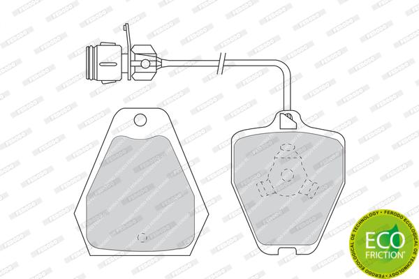 Тормозные колодки дисковые MINTEX арт. FDB985