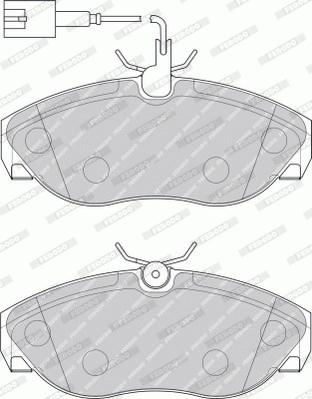Тормозные колодки дисковые MINTEX арт. FVR1396