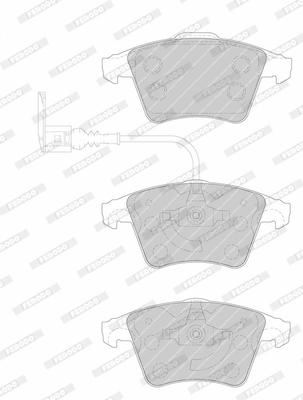 Тормозные колодки дисковые MINTEX арт. FVR1642
