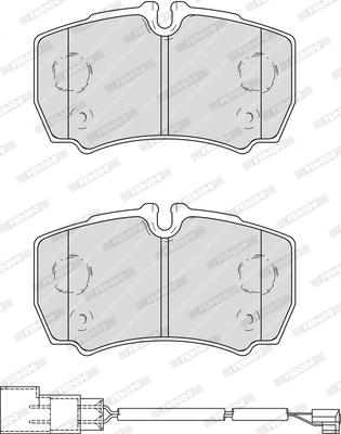 Тормозные колодки дисковые MINTEX арт. FVR4251