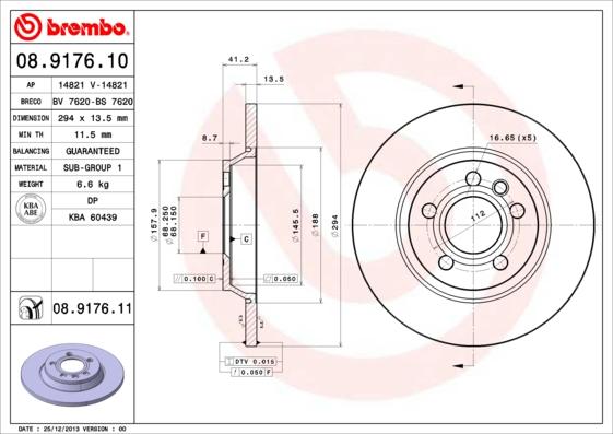 Тормозной диск MINTEX арт. 08.9176.11