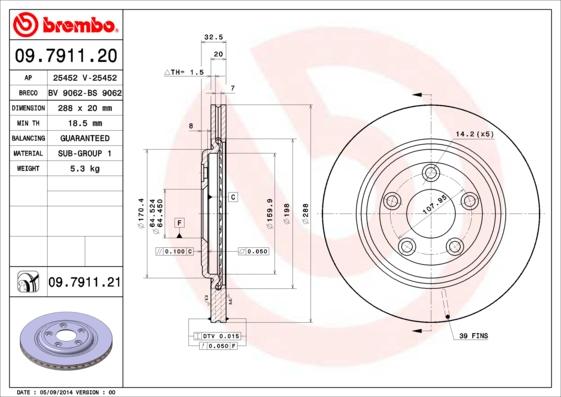Тормозной диск MINTEX арт. 09.7911.21