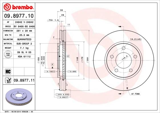 Тормозной диск MINTEX арт. 09.8977.11