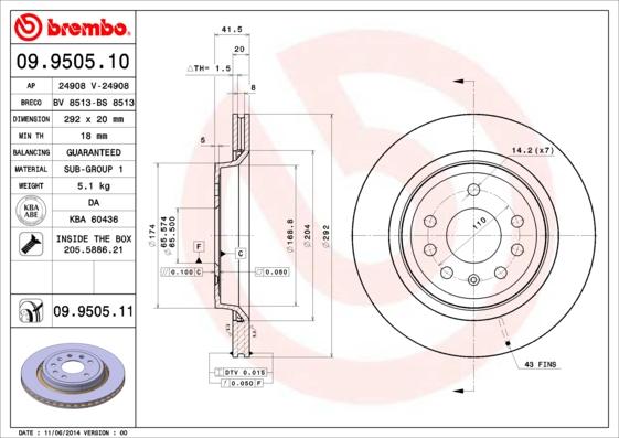 Тормозной диск MINTEX арт. 09.9505.11