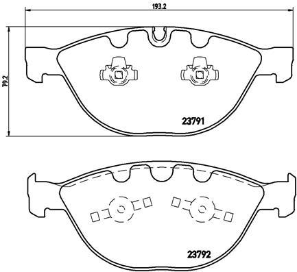Тормозные колодки дисковые MINTEX арт. BM P06047