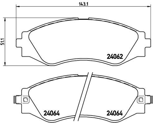 Тормозные колодки передние дисковые MINTEX арт. P10006