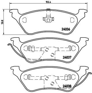Тормозные колодки дисковые MINTEX арт. P11 014