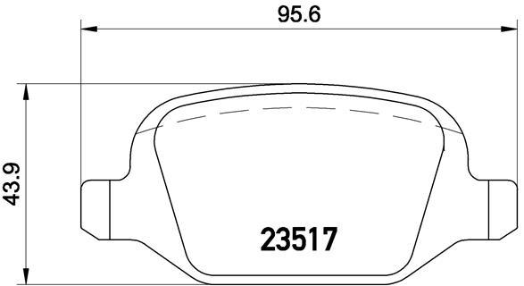 Тормозные колодки задние дисковые MINTEX арт. BM P23065