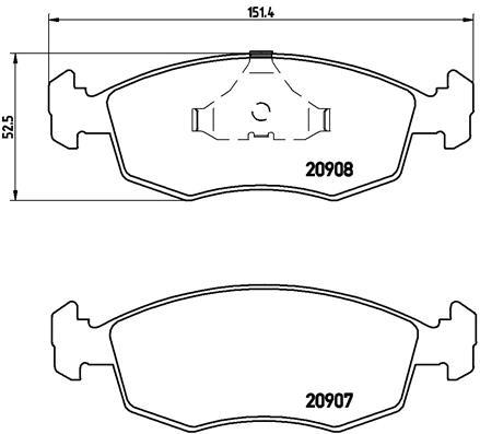 Тормозные колодки дисковые MINTEX арт. P24 019