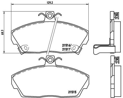 Тормозные колодки дисковые MINTEX арт. P28 020