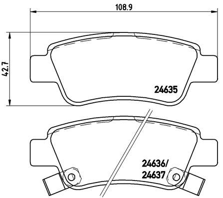 Тормозные колодки дисковые MINTEX арт. P28 046