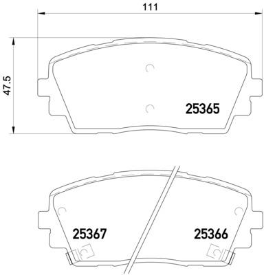 Тормозные колодки дисковые MINTEX арт. P30 053