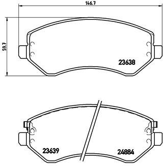 Тормозные колодки дисковые MINTEX арт. P37 007