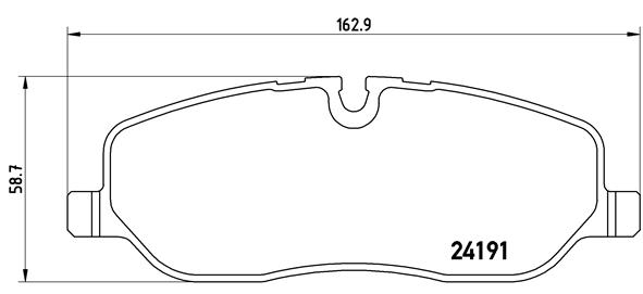 Тормозные колодки дисковые MINTEX арт. BM P44014