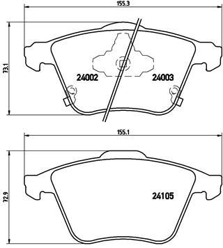 Тормозные колодки дисковые MINTEX арт. P49 038