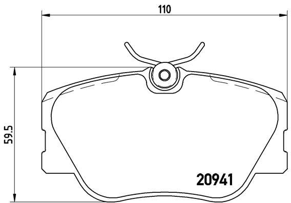 Тормозные колодки дисковые MINTEX арт. P50008