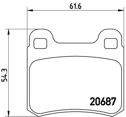 Тормозные колодки дисковые MINTEX арт. P50 013