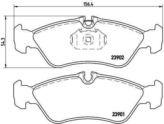 Тормозные колодки дисковые MINTEX арт. P50 082
